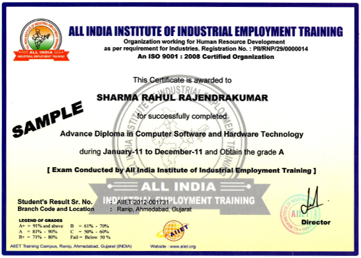 Certificate format for mca training choice image certificate no objection certificate format for industrial training gallery industrial training certificate format for mca images industrial yadclub Images